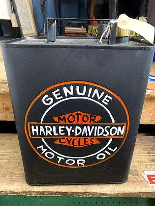 'HARLEY DAVIDSON' metal petrol can with brass cap