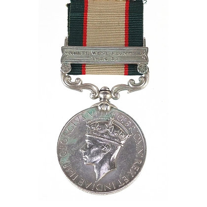 British military George VI India General Service medal with NWF bar