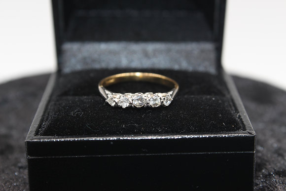 A 18ct gold diamond ring, size O, weighing 1.7g