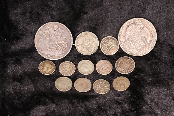 Various BritishVictorian and later silver coins