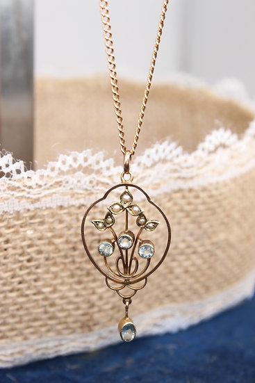 A 9ct pendant & chain
