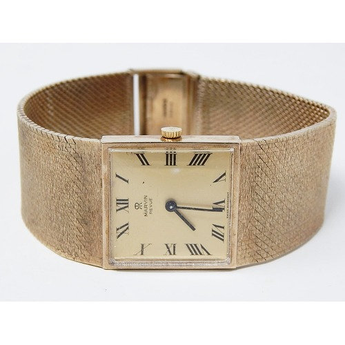 9ct Gold Gentleman's Wristwatch on 9ct Gold Bracelet by Marvin