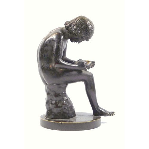 After the antique, a 'Spinario' bronze figure of a boy