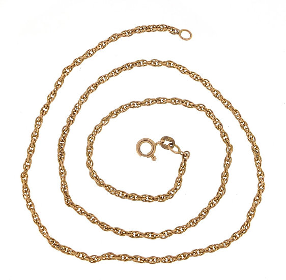 9ct gold multi link necklace, 46cm in length