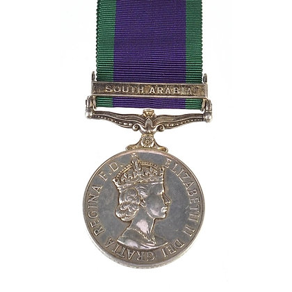 British military Elizabeth II General Service medal with South Arabia ba
