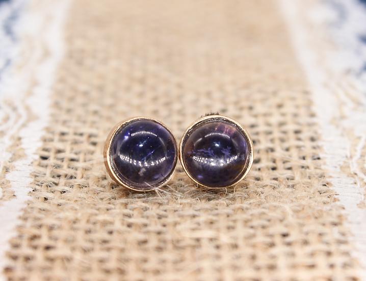 A pair of 9ct earrings, weighing 1.8g