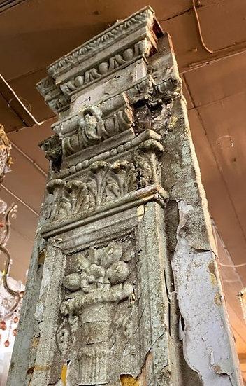 A pair of ornate columns