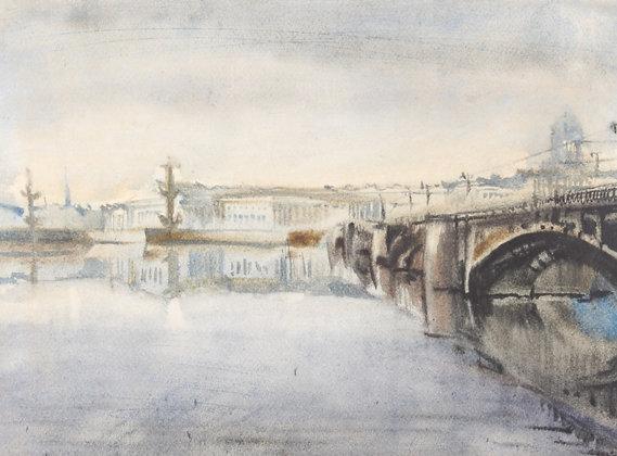 A Boris Kazakov watercolour