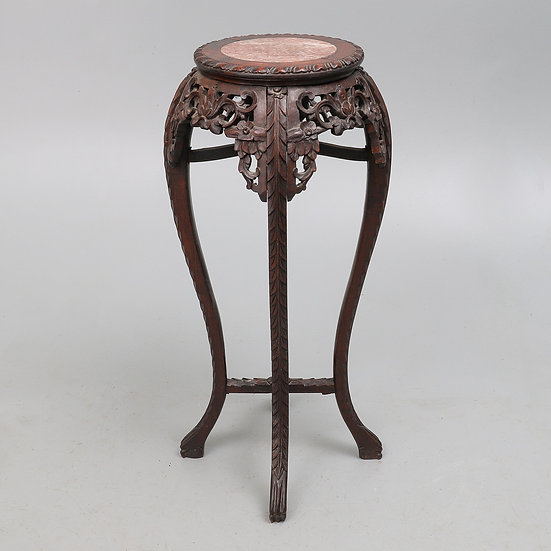 A Chinese rosewood vase stand