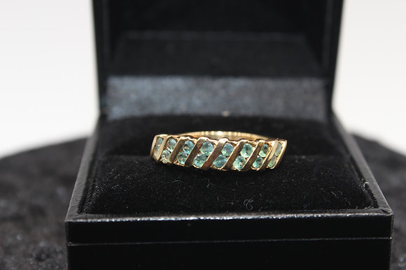 A 9ct alexandrite gold ring, size N, weighing 2.4g