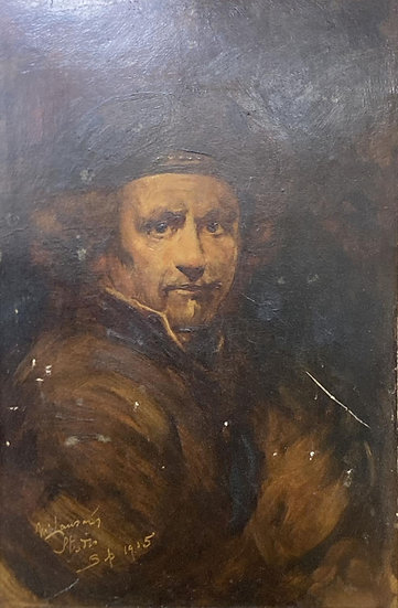 Portrait of a gentleman, M. Lansms Studio, oil on board