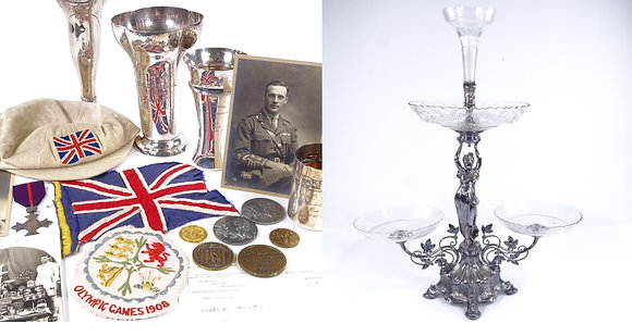 An very rare Olympic archive of medals, trophies and ephemera etc