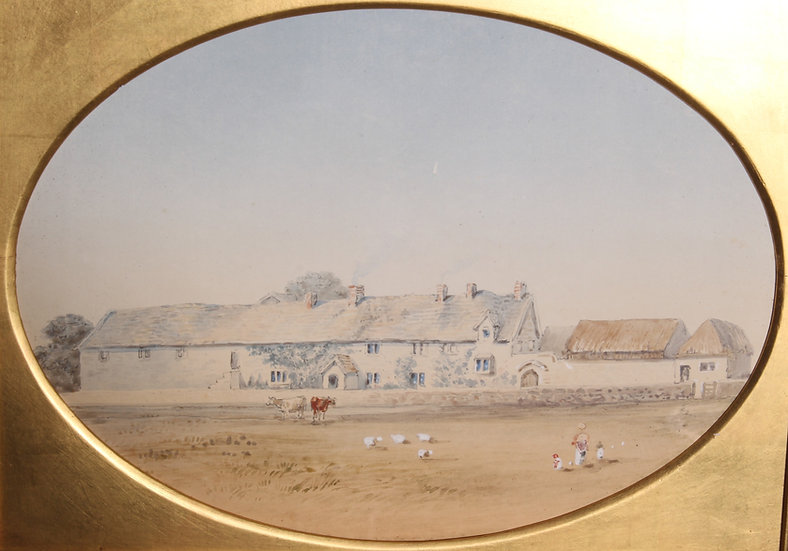 Sexton Barn Farm House as it stood in 1848