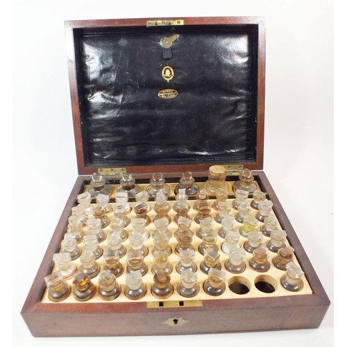 A 19th centurymahogany homeopathic medicine chest