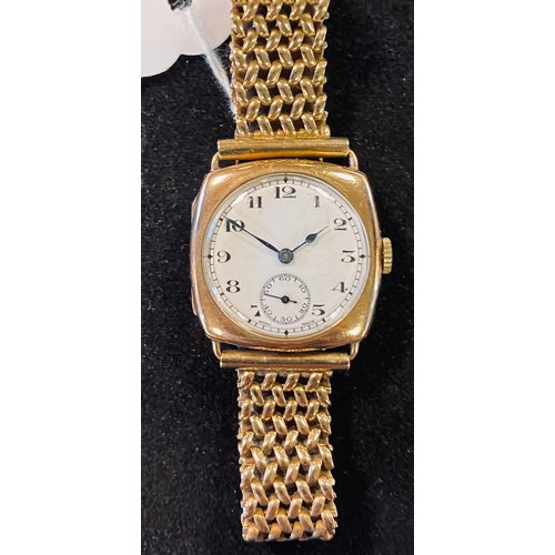 A gentleman's 9ct gold Zenith wristwatch