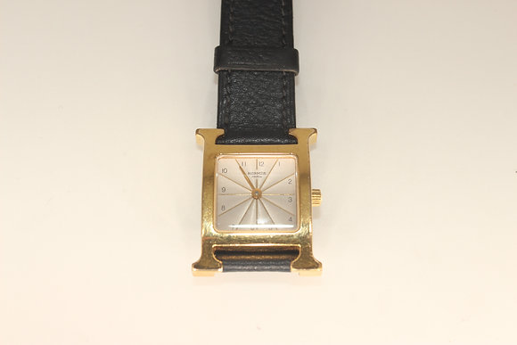 Hermes - A lady's gold plated stainless Heure H quartz wristwatch