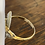 Thumbnail: A 18ct gold & diamond gold ring, size N, weighing 1.6g