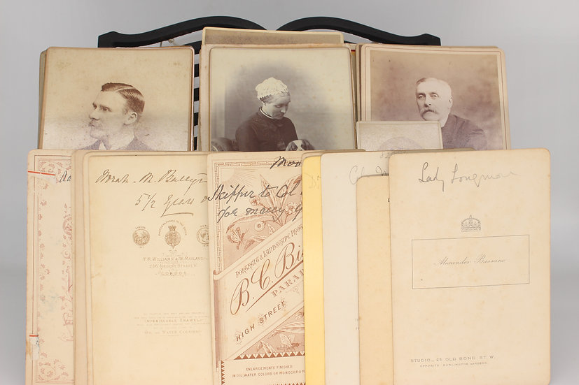 Collection of 35 cabinet card photographs of Royal personnel, actors and others