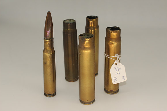 Five WWII decommissioned shells