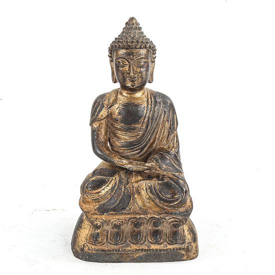 A Chinese gilt-bronze seated Buddha