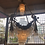 Thumbnail: large 20th century bronze neoclassical hanging chandeliers