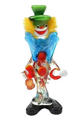 Murano colourful glass clown