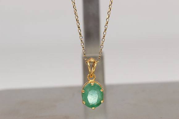 9ct chain & 18ct pendant