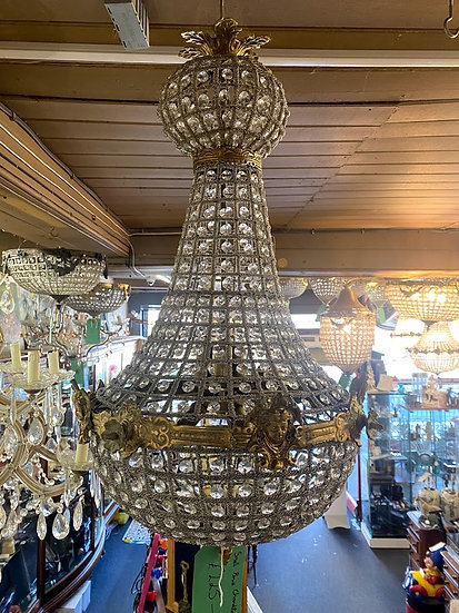 Small brass chandeliers