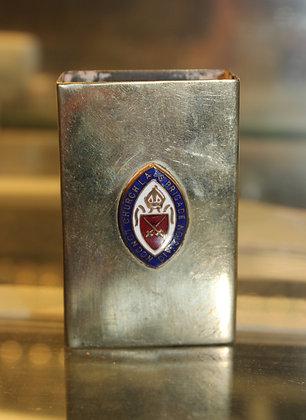 London silver plate match box holder