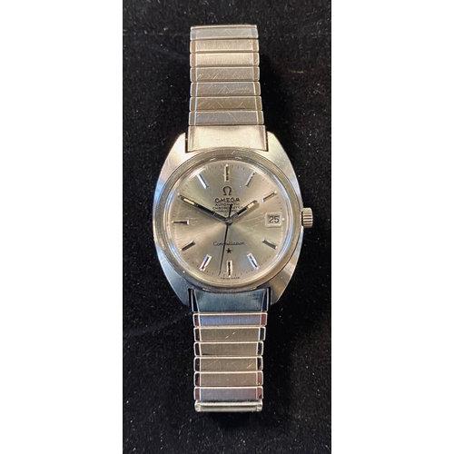 A gentleman's stainless steel Omega Constellation wristwatch