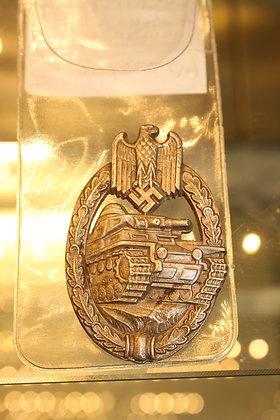 German tank assault badge in silver unmarked