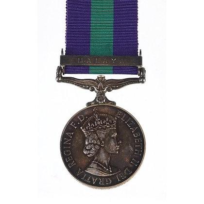 British military Elizabeth II General Service medal with Malaya bar