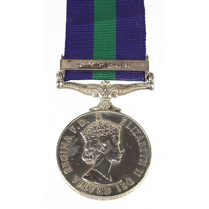 British military Elizabeth II General Service medal with Cyprus bar