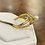 Thumbnail: A 9ct gold ring, size I, weighing 2.7g