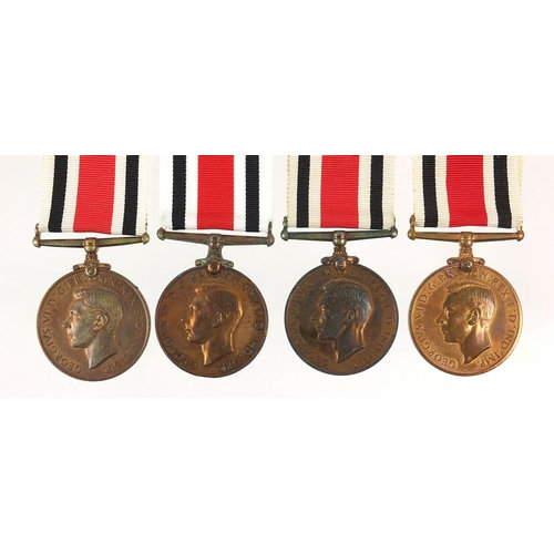 Four George VI Special Constabulary Service medals