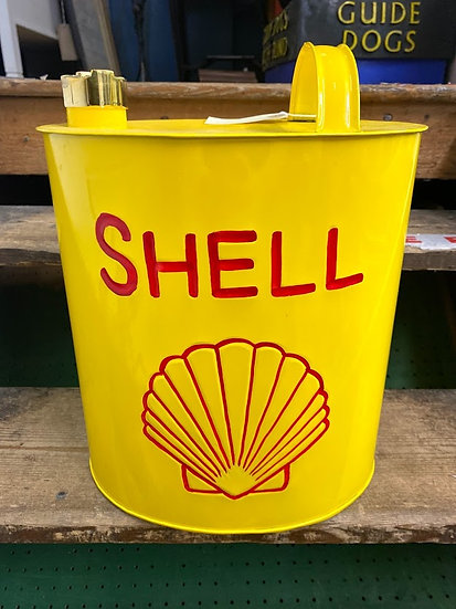 'SHELL' metal petrol can with brass cap