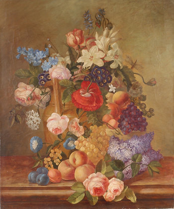 19th century still life oil on canvas