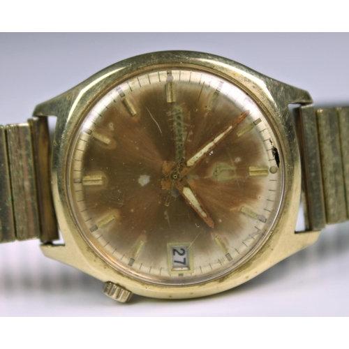 A 14ct gold 1960s cased Bulova Accutron gentleman's wrist watch