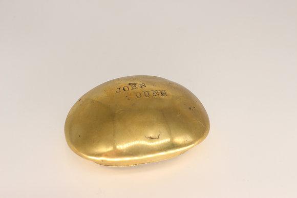 Brass oval tobacco case