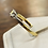 Thumbnail: A 18ct two tone gold & 50 PTS diamond ring, size N, weighing 3.3g