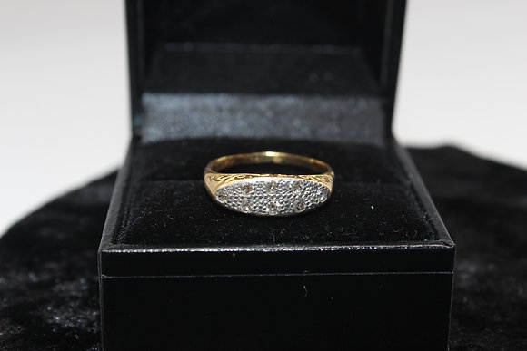A 18ct gold diamond ring, size N, weighing 3.1g