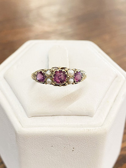 A 18ct gold  ring, size N, weighing 2.2