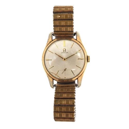 A Omega, vintage gentlemen's manual wristwatch, 33mm in diameter