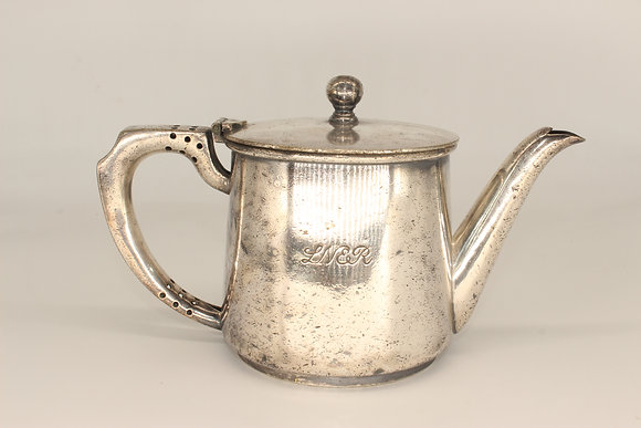 LNER silver plated teapot by Walker & Hall