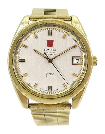 Omega Electronic Chronometer f300 gentleman's quartz stainless steel wristwatch