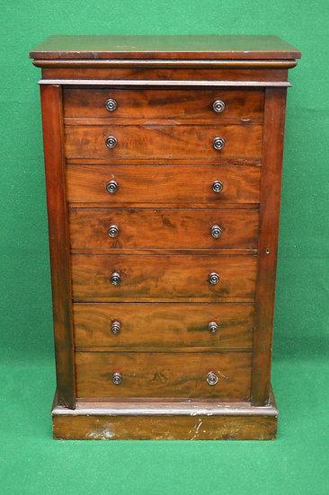 A 19th century mahogany Wellington chest