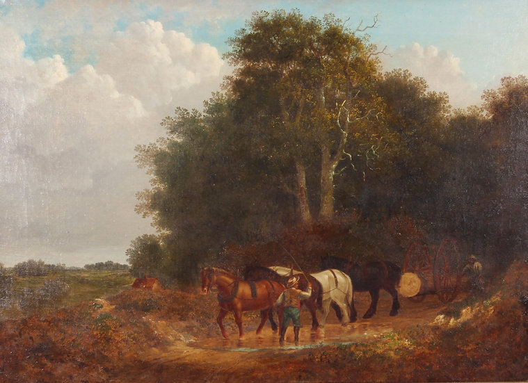 A 19thC countryside oil painting
