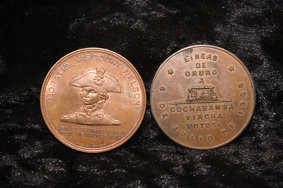 Two 19th century medallions including Nelson Foudroyant medallion