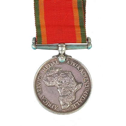 British military Africa Service medal awarded to 170606G.P.J.C.DUXBURY