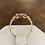 Thumbnail: A 18ct gold  ring, size N, weighing 2.2
